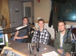 Picture of Platinum Dirt and Thred Up in studio for The Wendel Forum radio show.
