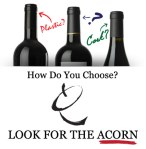 Look for the Acorn - Real Cork Inside logo